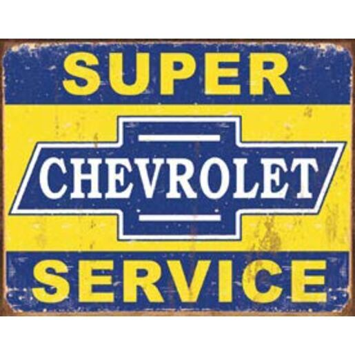 METAL SIGN SUPER CHEVY SERVICE MSI-1355 1355